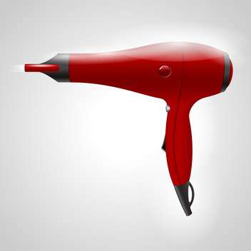 vector red hair dryer - Free vector #129253