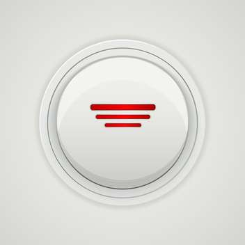 Vector gray power button design - vector gratuit #129283