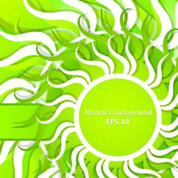Vector abstract green spring background - vector gratuit #129323