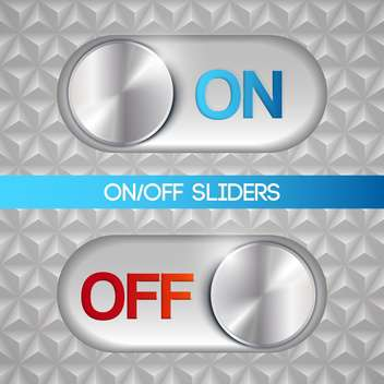 Vector illustration of on and off sliders - vector gratuit #129373