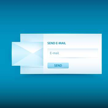 Vector email sending form on blue background - бесплатный vector #129443