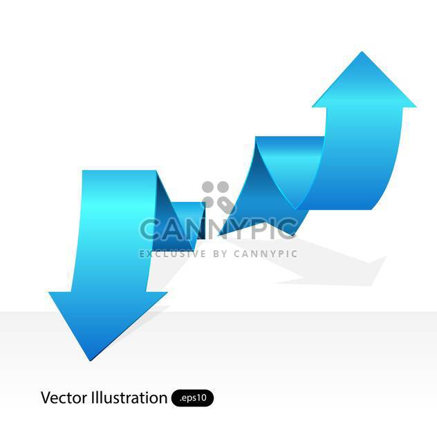Vector blue arrow tags on white background - Free vector #129463