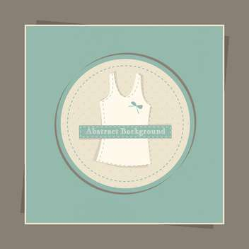 Vector green card with female singlet in circle - vector gratuit #129483