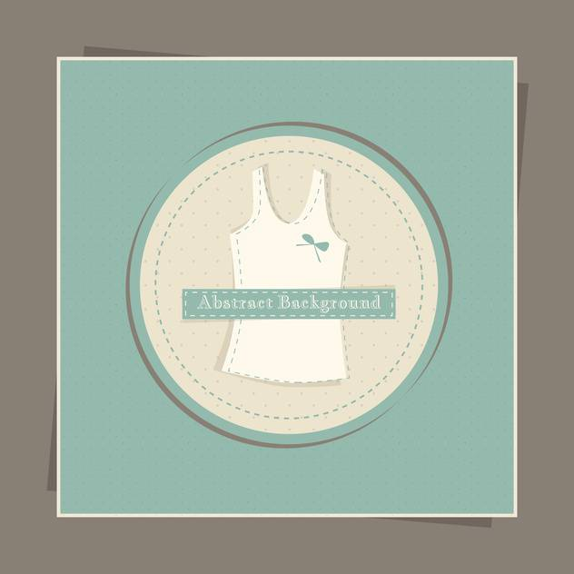 Vector green card with female singlet in circle - бесплатный vector #129483