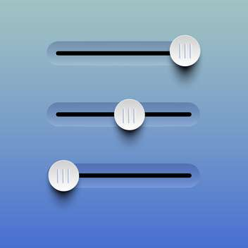 Vector illustration of sliders buttons on blue background - vector gratuit #129593