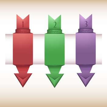 Vector illustration of colorful origami style option arrows with numbers - vector #129703 gratis
