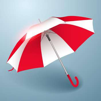 Vector illustration of umbrella in red and white - vector gratuit #129823