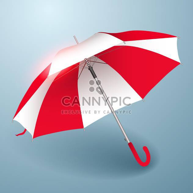 Vector illustration of umbrella in red and white - Free vector #129823