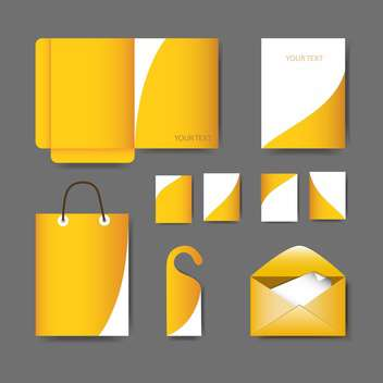Vector stationery design set on grey background - vector #129993 gratis