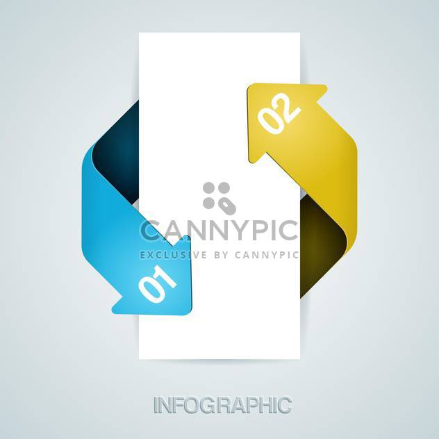 White vector banner with arrows and numbers - Free vector #130073