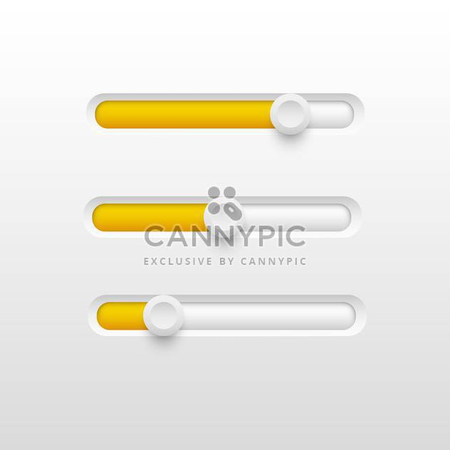 Vector illustration of yellow volume sliders set - Free vector #130093