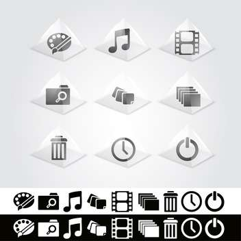 Vector set of web icons - vector gratuit #130123