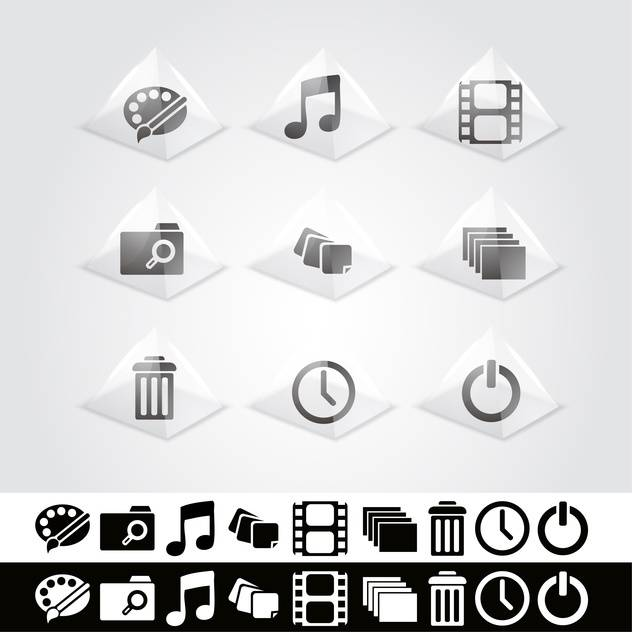 Vector set of web icons - vector #130123 gratis