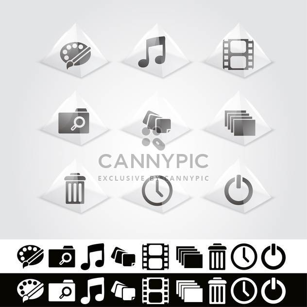 Vector set of web icons - Free vector #130123