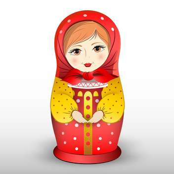 Vector illustration of traditional matryoshka doll - vector gratuit #130233
