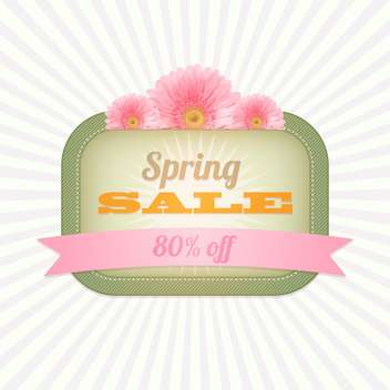 spring shopping sale vintage card - vector gratuit #130303