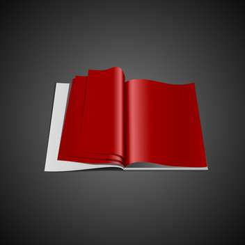 Red opened vector book - vector gratuit #130403