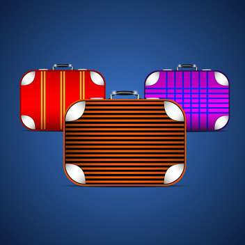 Vector illustration of travel suitcases - vector gratuit #130423