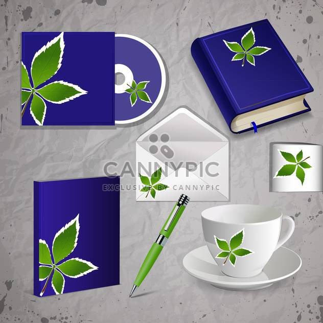 corporate identity kit vector set - Free vector #130483