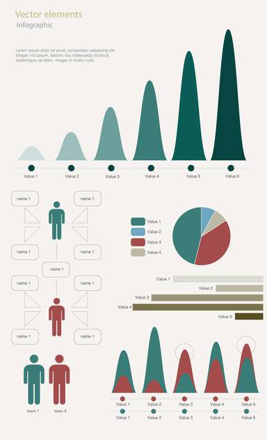 infographic elements vector illustration - vector gratuit #130493