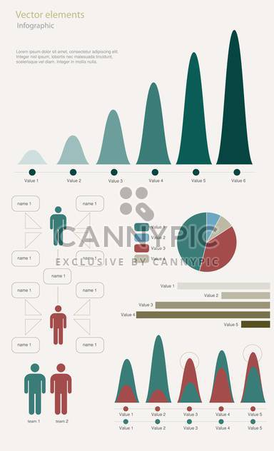 infographic elements vector illustration - Free vector #130493
