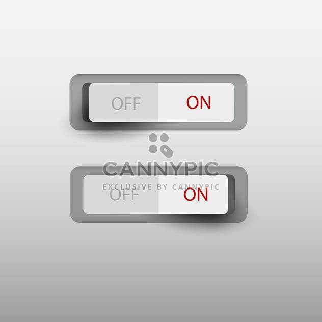 on and off switch button - Free vector #130503