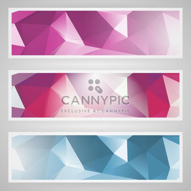 vector set of abstract banners - Free vector #130513