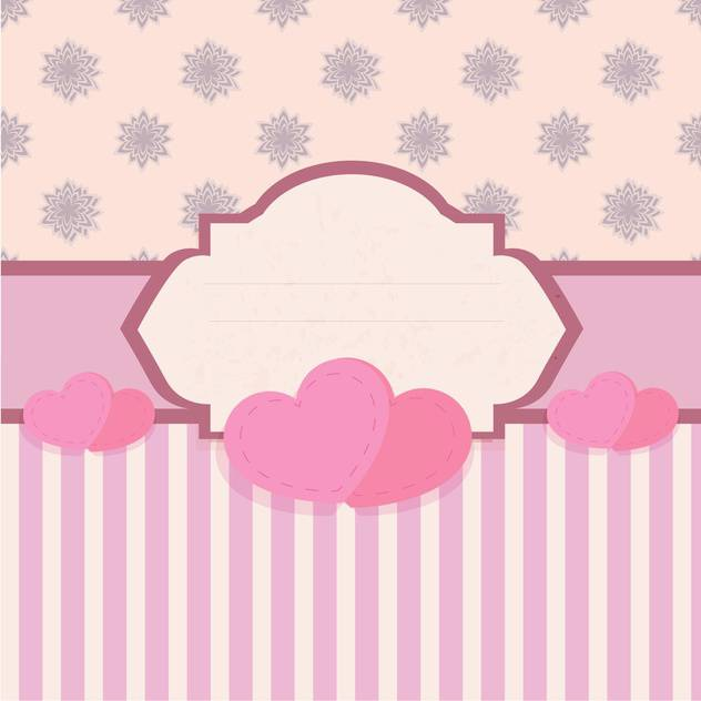 Vector greeting card with hearts - Free vector #130563