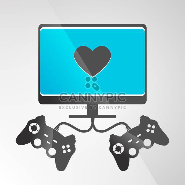vector illustration of video game console on grey background - Free vector #130653