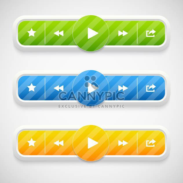 Vector music colorful icons on grey background - Free vector #130683