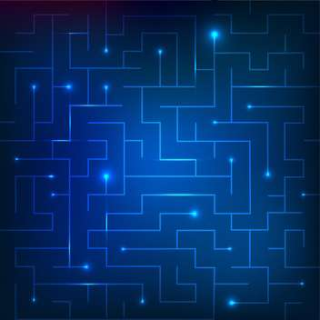Vector illustration of blue sparkling maze background - Kostenloses vector #130773