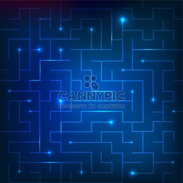 Vector illustration of blue sparkling maze background - Free vector #130773