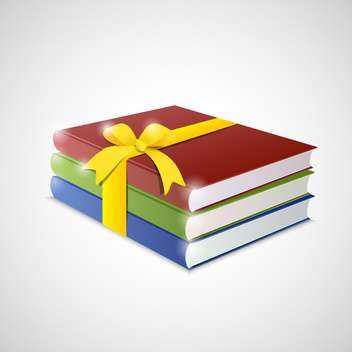Stack of multicolor books on White Background - vector gratuit #130813