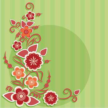 Greeting card with flowers vector illustration - Kostenloses vector #130883