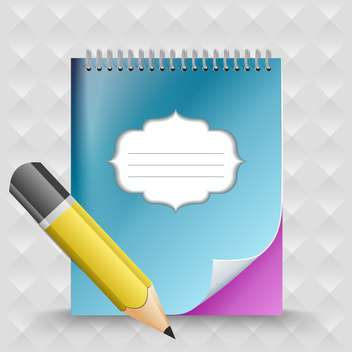 Pencil with notebook vector background - Kostenloses vector #130893
