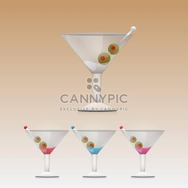 Martini trinken in Glas-Vektor-illustration - Kostenloses vector #130913
