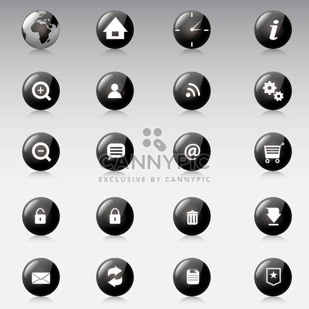 Web icons vector set on grey background - Free vector #130923