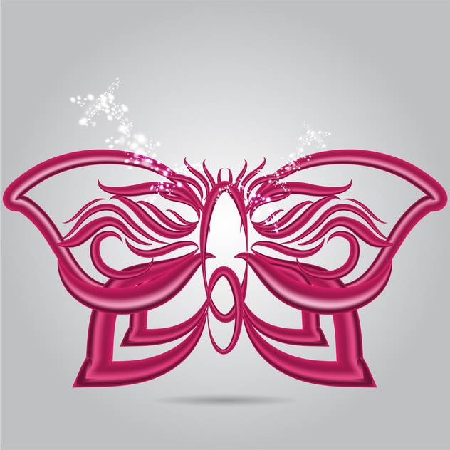 Purple abstract butterfly vector illustration - Free vector #130933