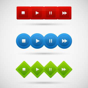 Control panel of media player - vector #130953 gratis