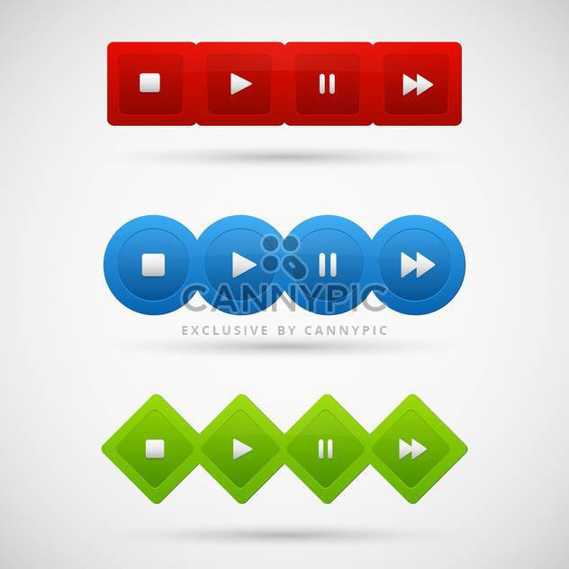Control panel of media player - Free vector #130953