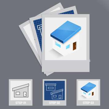 House building steps vector illustration - Free vector #130963
