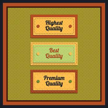 Vector collection of vintage and retro labels - vector gratuit #131003