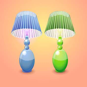 illustration of isolated table lamps - vector gratuit #131063