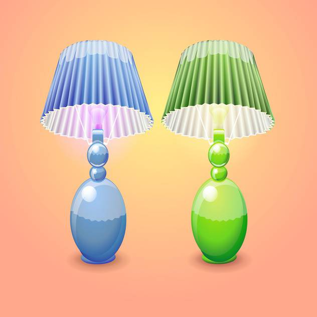 illustration of isolated table lamps - vector #131063 gratis