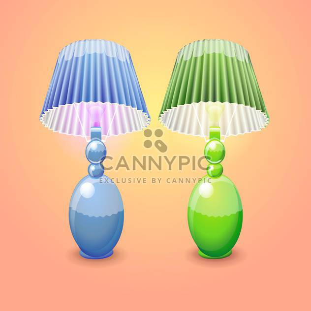 illustration of isolated table lamps - Free vector #131063