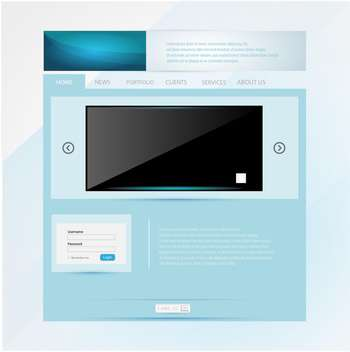 Web site design template vector illustration - vector gratuit #131083