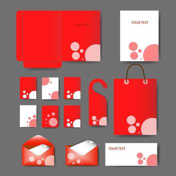Set of templates corporate identity - vector gratuit #131113