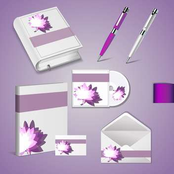 Set of templates for corporate identity - vector gratuit #131153