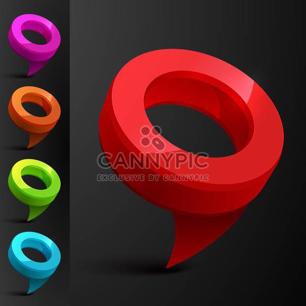 Vector set of speech bubbles on black background - Free vector #131193