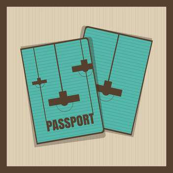Lamp passport cover vector illustration - бесплатный vector #131263